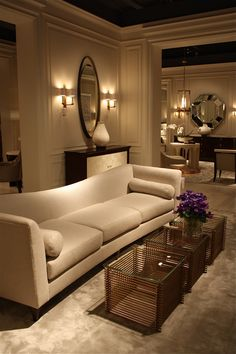 Luxury Living Room With Thomas Pheasant Furniture