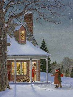 Winter Scène - by Charlotte Joan Sternberg
