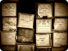 Old piano music rolls