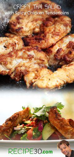 Chicken Tenderloin Thai Salad Simple fresh flavours of Thailand with spicy chicken