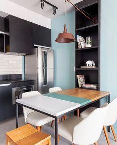 """1,568 curtidas, 7 comentários - Casoca (@casoca.br) no Instagram: """"Paleta de cores contemporâneas e décor moderno são destaque nesse ambiente assinado pelo escritório…"""""""