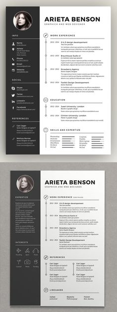 30 Creative Clean CV / Resume Templates with Cover Letters Professional well structured CV / Resume Templates for lasting impression. In current employment market, only eye-catching clean and creative Resumes can stay Cv Curriculum Vitae, Curriculum Design, Resume Design Template, Creative Resume Templates, Free Cv Template Word, Best Cv Template, Cv Consultant, Conception Cv, Cv Photoshop