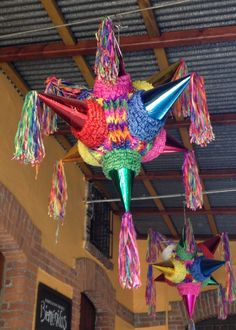 Colorful Pinata -- Get ready for some candy! #party #pinata #color laspalmassauces.com