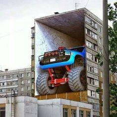 #art #arte #arts #graffiti #graffitiart #streetart #streetartistry #wall #wallart #house #home #truck #trucks #monstertruck #bigfoot by rockijam