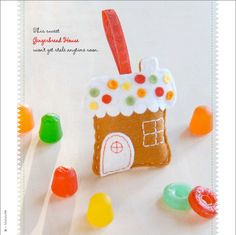 gingerbread house ornament.  I love that this is not just a flat ornament!