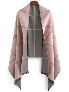 Shop Plaid Fringes Color-block Scarf at ROMWE, discover more fashion styles online. Tartan Plaid Scarf, Wool Scarf, Fringe Scarf, Pink Shawl, Mode Shoes, Vintage Scarf, Pink Grey, Autumn Winter Fashion, Leggings