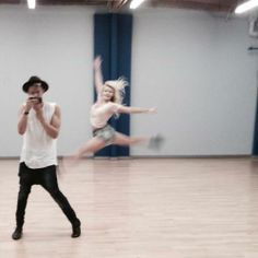 @Hannah Rose: A week till the Dancing With The Stars premiere! @witneycarson & I in rehearsal! Who will u root for? #CodyWitClique