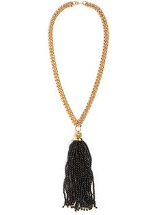 Plunge Tassel Necklace