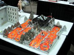 Mike Huffman's Mustafar by Moctagon Jones, via Flickr Lego People, Cool Lego Creations, Lego Sets, Gallery, Building, Lego Games, Roof Rack, Buildings, Construction