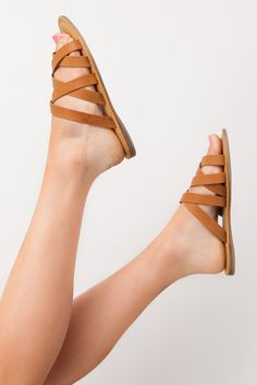 All You Need Sandals in Tan