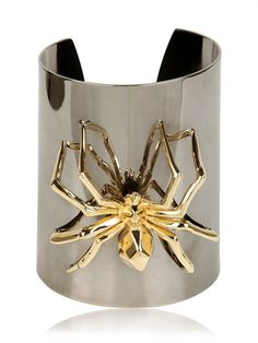 MARMÈN - SPIDER BLACK CUFF BRACELET - LUISAVIAROMA - LUXURY SHOPPING WORLDWIDE SHIPPING - FLORENCE