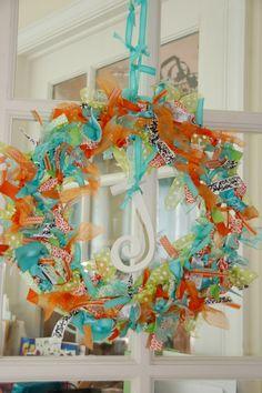 ribbon wreath @ Make It Snappy