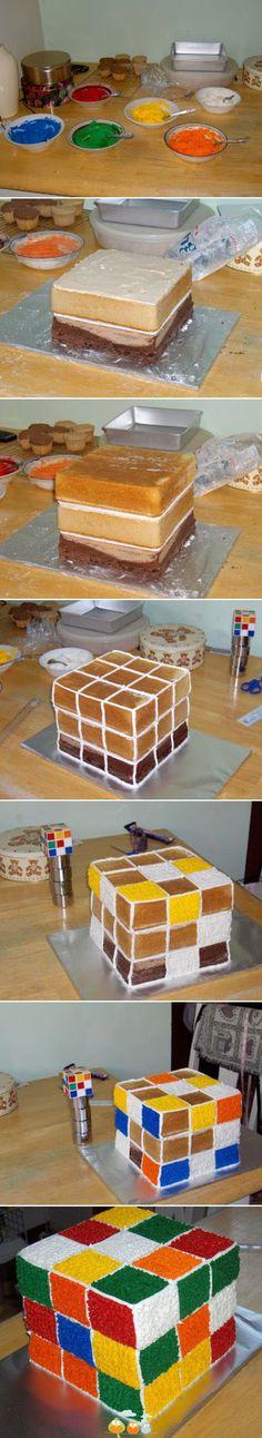 rubics cube cake