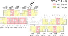 Mặt bằng tòa C2 D'.Capitale - căn hộ dịch vụ cho thuê officetel, sudio