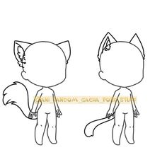 Hand Drawing Reference, Art Reference Poses, Creature Drawings, Animal Drawings, Kawaii Drawings, Cute Drawings, Drawing Anime Clothes, Body Template, Chibi Sketch