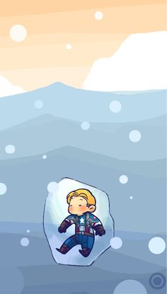The fact that I find this cute makes me sad. Steve is literally frozen in a block of ice sinking in the ocean. Dam it global warming