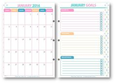 Free Monthly and Week at a Glance Printables...I REALLY LIKE THIS ONE!