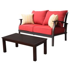 Shop allen + roth 2-Piece Gatewood Patio Loveseat and Coffee Table Set at Lowes.com
