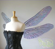 Cellophane dragonfly wings