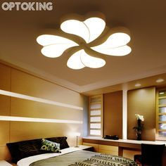 Optoking Diy Acrylic Led Ceiling Light Modern Living Room Lamps Bedroom Indoor Lighting Hotel Restaurant