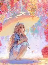 Resultado de imagen de watercolor alice in wonderland