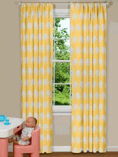 Premier Prints Gia Slub White Yellow Giraffe And Nursery Fabric