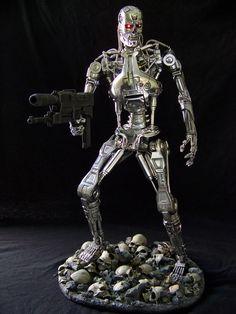 """NECA 18"""" Endoskeleton custom with base!"""