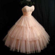 Pink puffy dress- engagement party dress!