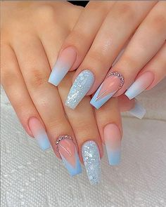 78 Hottest Classy Acrylic Coffin Nails Long Designs For Summer Nail Color - H . - 78 Hottest Classy Acrylic Coffin Nails Long Designs For Summer Nail Color – Pretty Nails – Hybr - Blue Acrylic Nails, Summer Acrylic Nails, Purple Nails, Summer Nails, Acrylic Art, Coffin Nails Long, Long Nails, Short Nails, Nail Polish