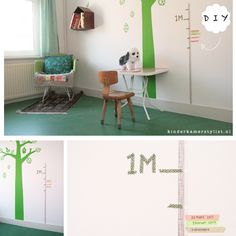 #DIY Masking tape growth chart