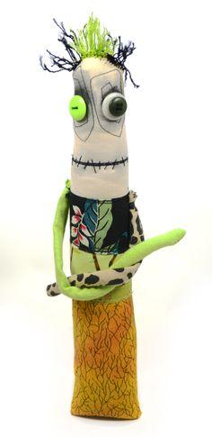 Green-haired monster doll