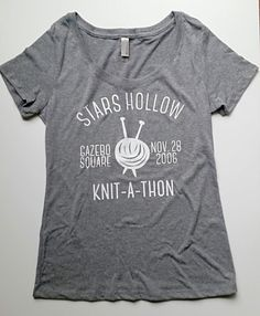 Gilmore Girls Stars Hollow Knit-A-Thon Tee by bigdaydesignco Gilmore Girls Shirt