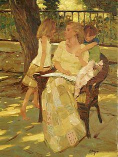pintura de David Hettinger Reading Art, Woman Reading, Love Art, All Art, Illustrations, Illustration Art, People Reading, Portraits, Paintings I Love