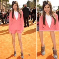 Do you want a coral short like Victoria Justice? The answer in #onlyou