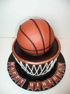Yvonne C. baked this cake for www.birthdaycakes4free.com and it was featured in a blog post by Designrshub.com as one of the best Basketball Cakes in the world!