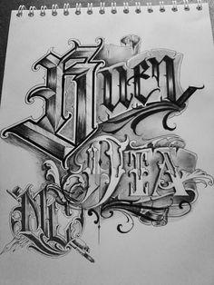 Tattoo Lettering Styles, Cool Lettering, Script Lettering, Calligraphy Letters, Lettering Design, Clown Tattoo, Hippie Art, Tattos, Chalkboard
