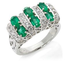 Victoria Wieck Emerald and White Topaz Band Ring Emerald Band Ring, Aquamarine Rings, Chunky Rings, Fantasy Jewelry, White Topaz, Ring Designs, Band Rings, Jewelry Box, Gems