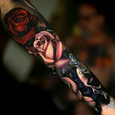 Realistic Floral Sleeve by Nikko Hurtado - 50 Cool Sleeve Tattoo Designs Fake Tattoos, Trendy Tattoos, Sexy Tattoos, Body Art Tattoos, Stomach Tattoos, Tatoos, Tattoos Pics, Dragon Tattoos, Feminine Tattoos