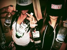 alcohol, barcadi, drink, girls , grey goose