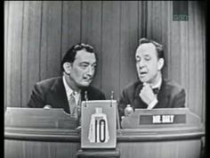 Salvador Dali  on early 60's TV show What's My Line?  I must have been the nerdiest kid alive; this was one of my favorite shows as a 5 year-old.