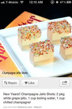Champaign jello shots.