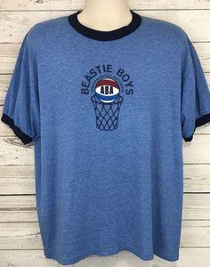 Vtg Beastie Boys Atwater Basketball Assoc ABA Blue Ringer T Shirt XL 50/50  | eBay