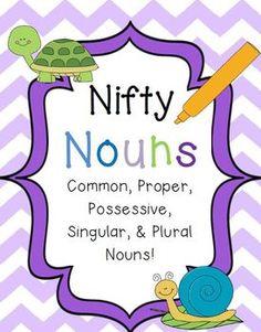... plural nouns possessive : Types Of Nouns Worksheet For High School