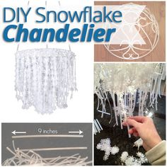 How to Make a Snowflake Chandelier - Home Stories A to Z