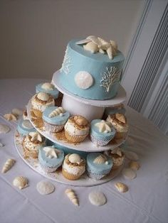 All sizes | Beach Wedding CupCake Towers