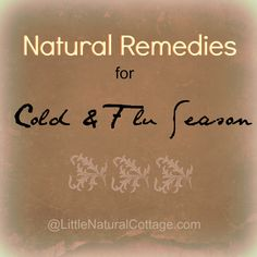 Natural remedies for cold and flu season... herbs, tinctures, probiotics, and helpful home remedies.  You don't have to rely on antibiotics to stay well!