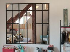 Atelier fen tres en acier and miroir on pinterest for Miroir style verriere