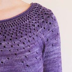Adult Raindrops Pullover Sweater - 4ply Knitting Pattern - Tangled Yarn UK