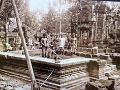 Khmer Empire, Old Photos, Building, Vintage, Cambodia, Old Pictures, Vintage Photos, Buildings, Vintage Comics