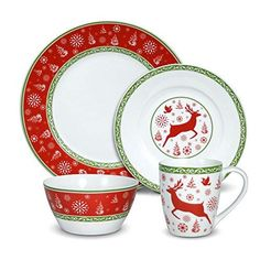 3 Items: Dinner Plates Dessert Plates Napkins Service for 20 Christmas New Years Holiday Deluxe Winter Party Paper Dinnerware Bundle Wreath Deluxe